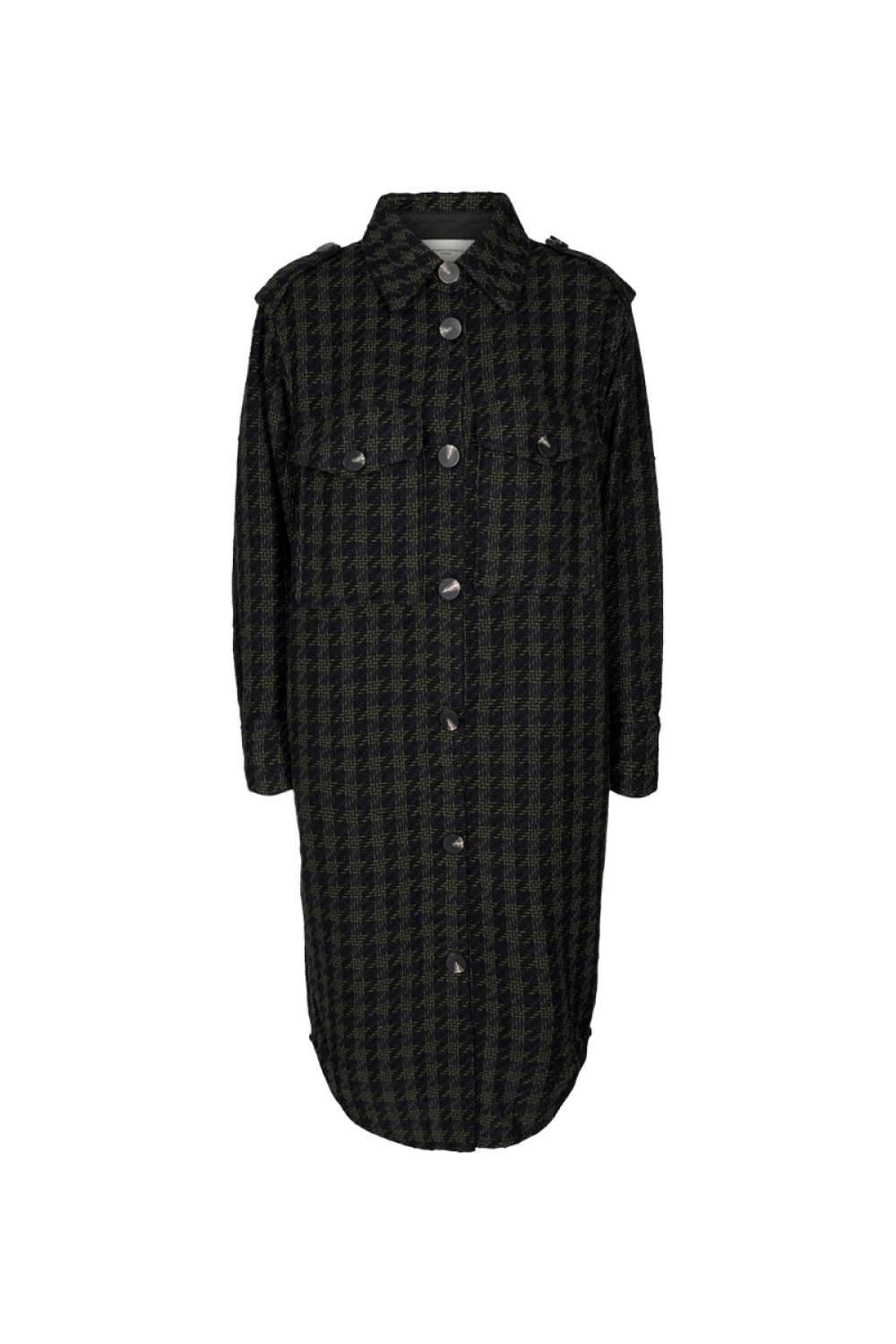 Cph Muse 123746 Isabel Shirt Black Dark Olive mix as sms