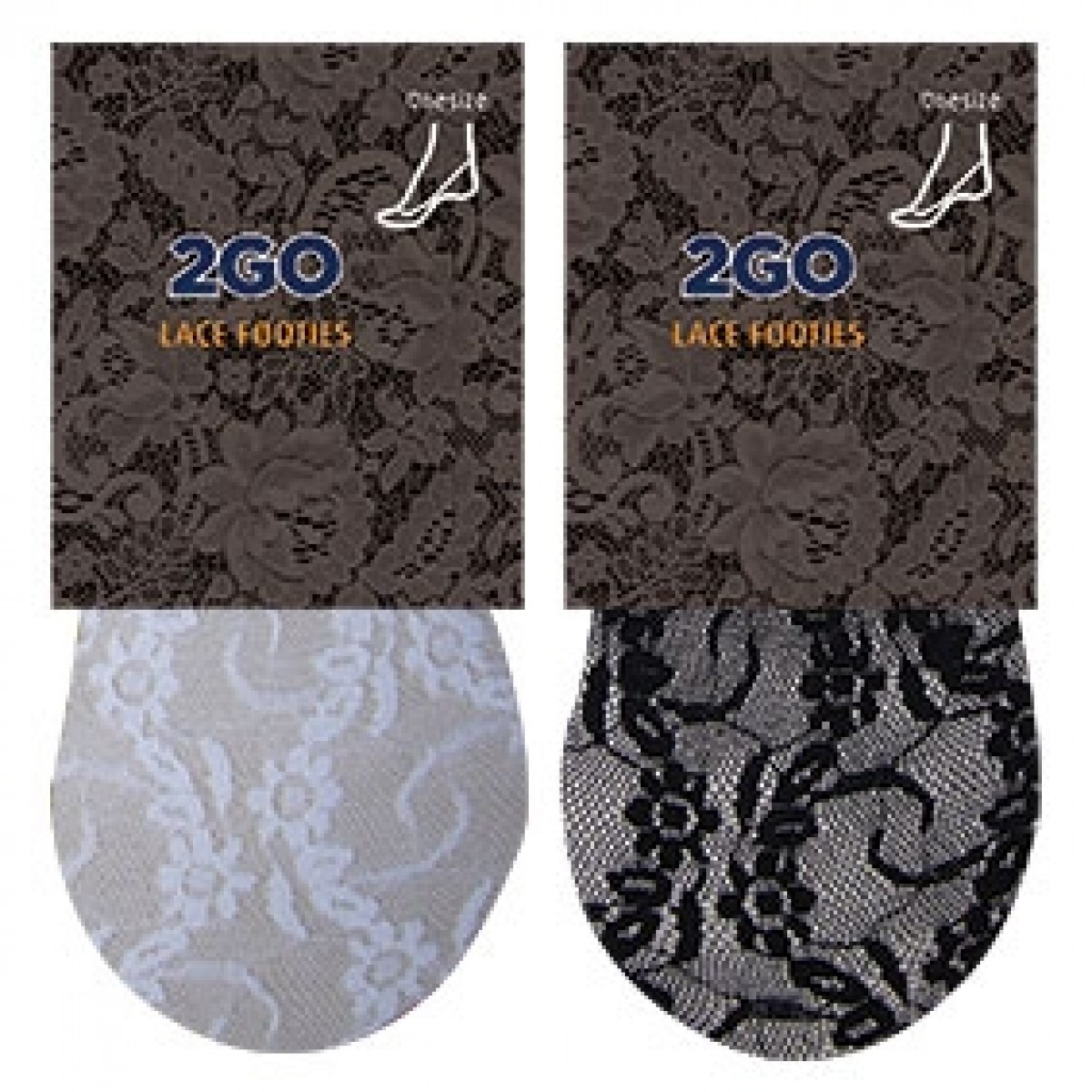 2GO Lace Footies One Size-35