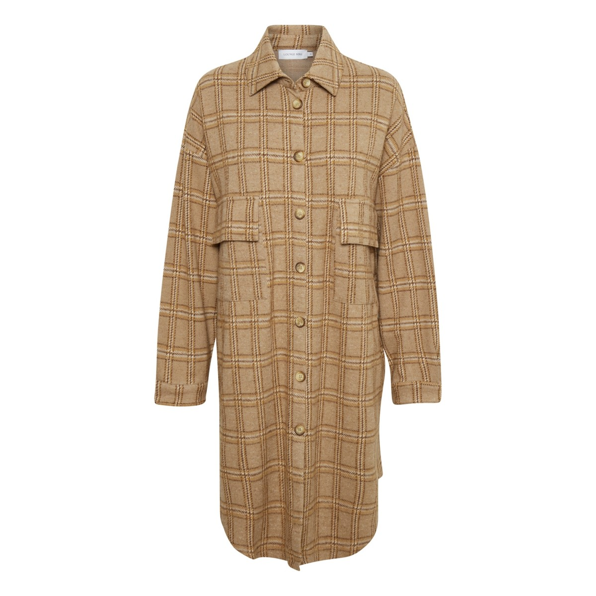Lounge Nine 10607192 Bryleigh Shirt Checked Incense-31