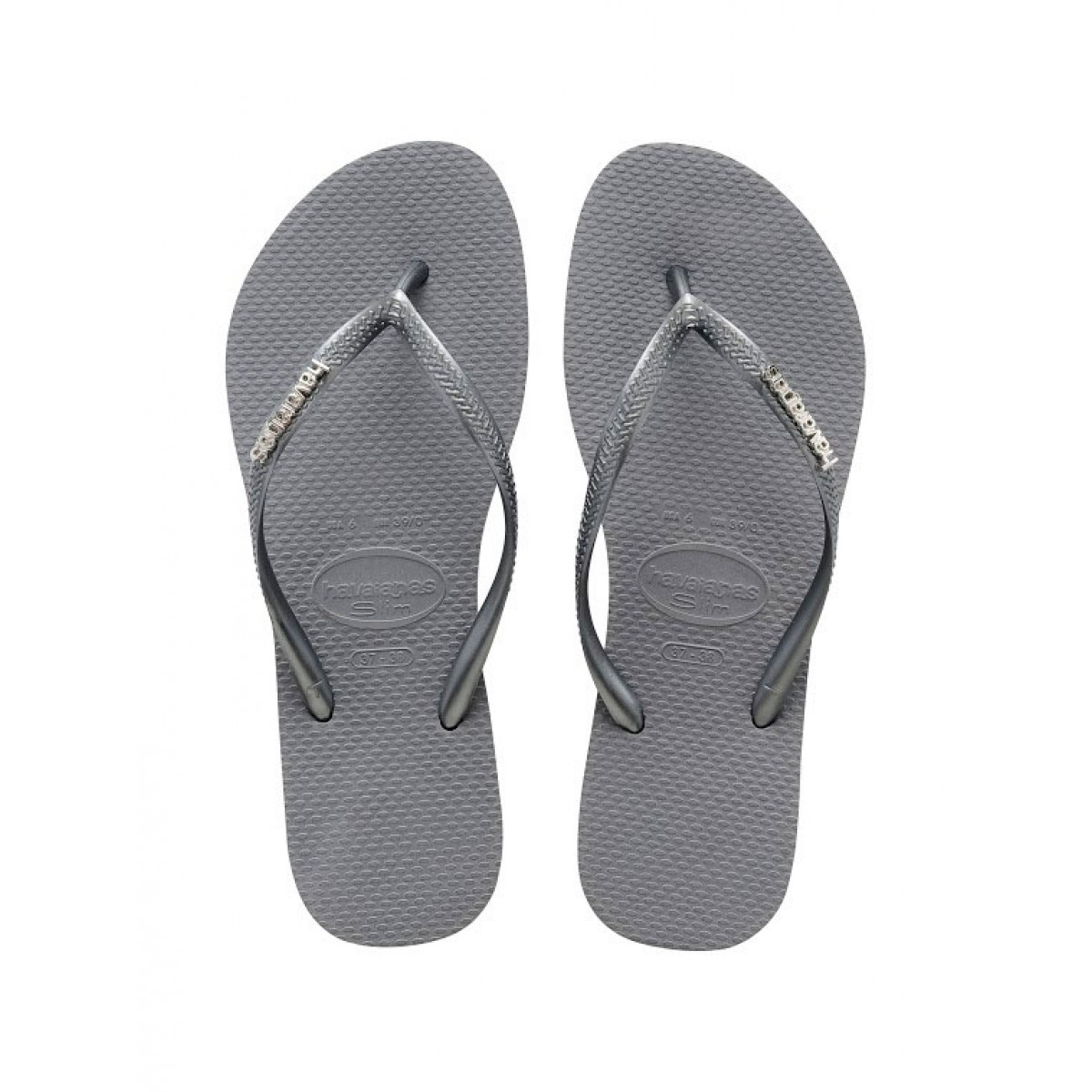 Havaianas Slim Logo Metallic Ice Grey-35