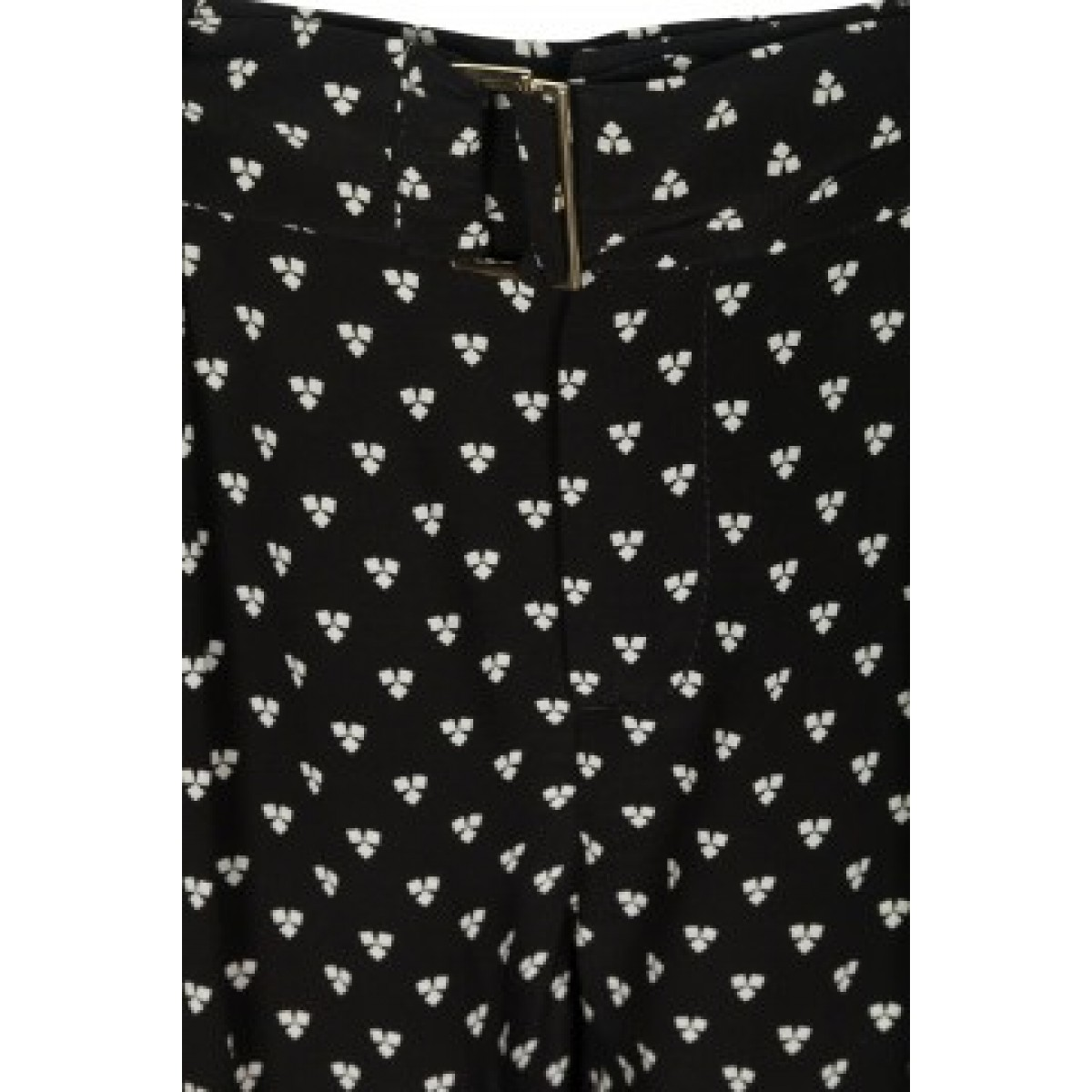 Oui 52779-0991 Trousers Black White-35