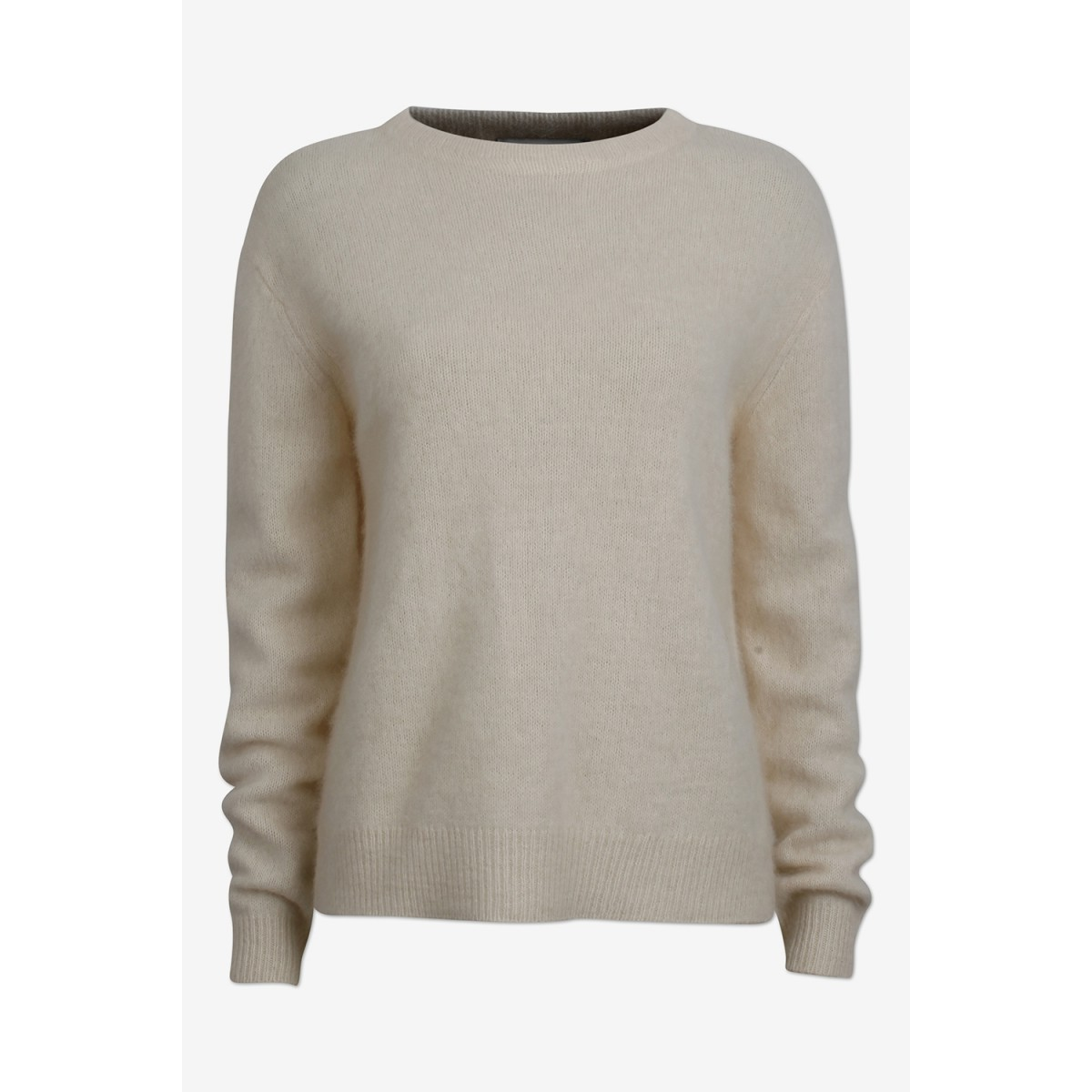Six Ames Joie Sweater C1003 Racoon Off White-31