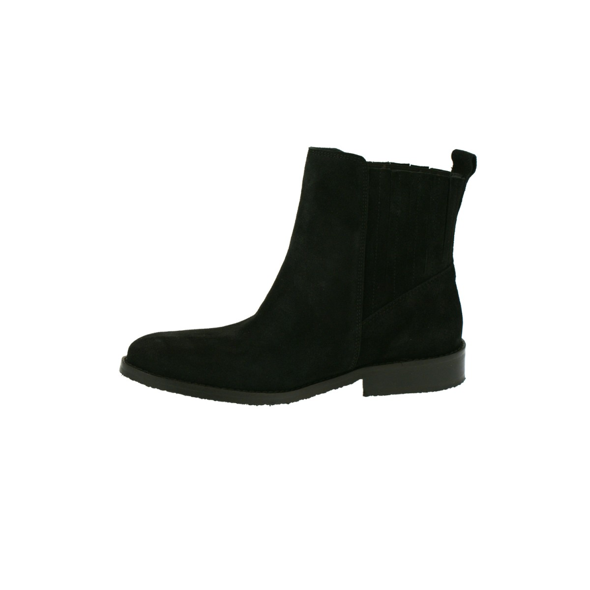 Mentor W7142 Ankle Chelsea Boot Black Waxed Suede-35