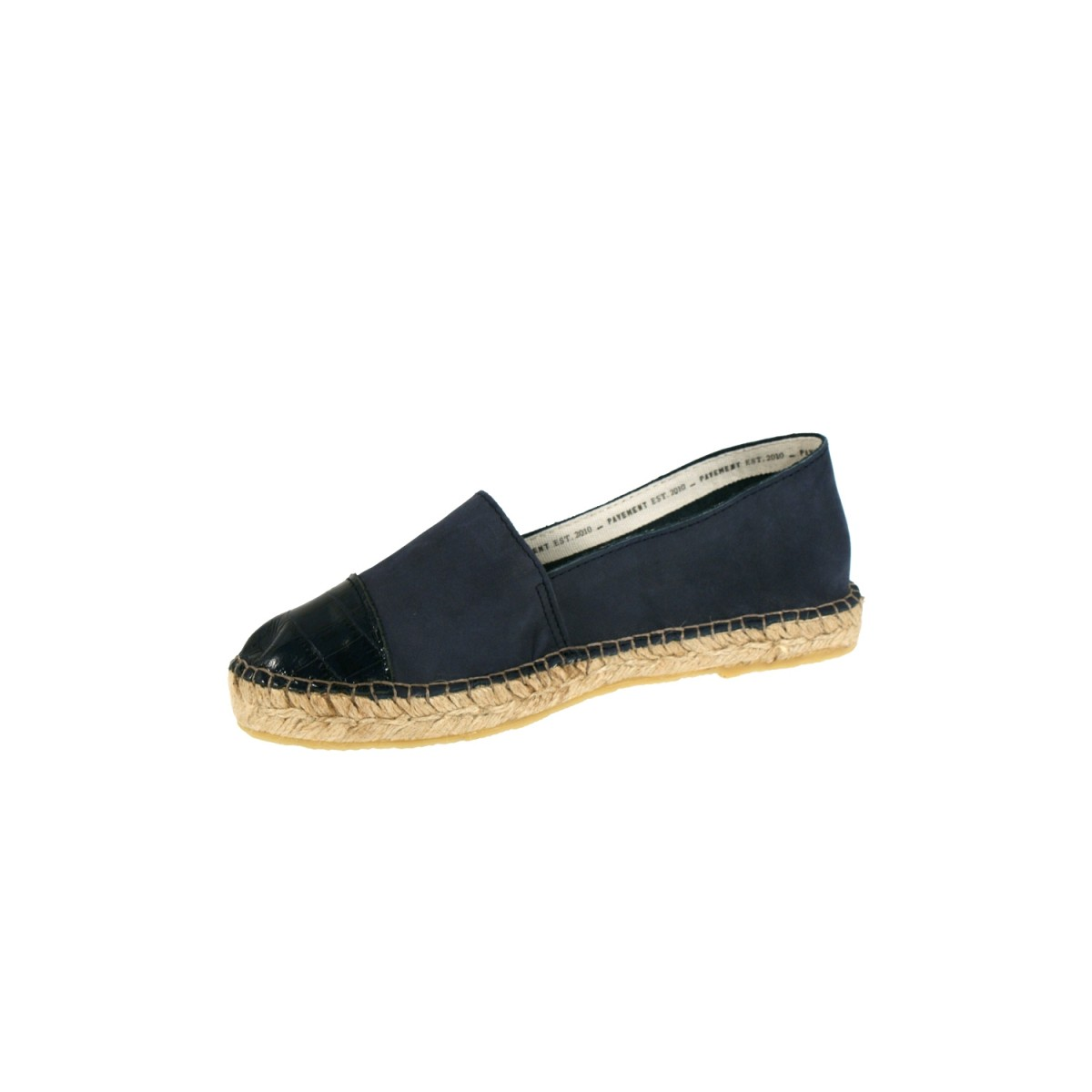 Pavement Leonora Croco Navy Leather-35
