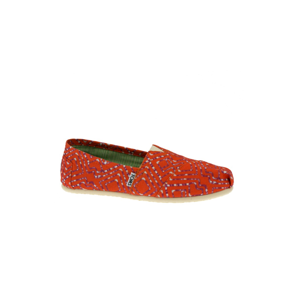 TOMS Classics Coral Geometric Tie-Dyed-35