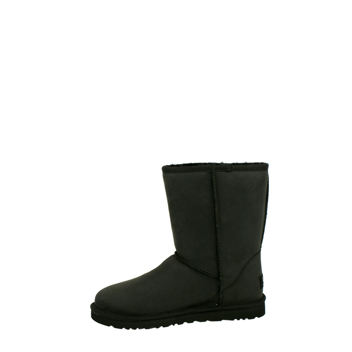 UGG Classic Short Leather Black-32