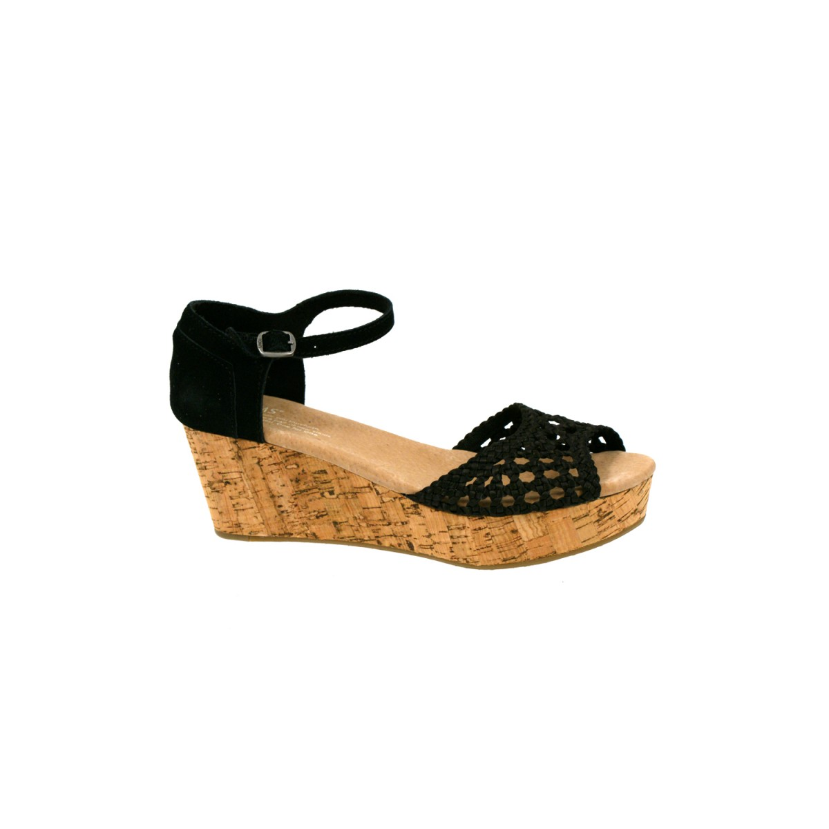 TOMS Wedge Satin Woven Black-32