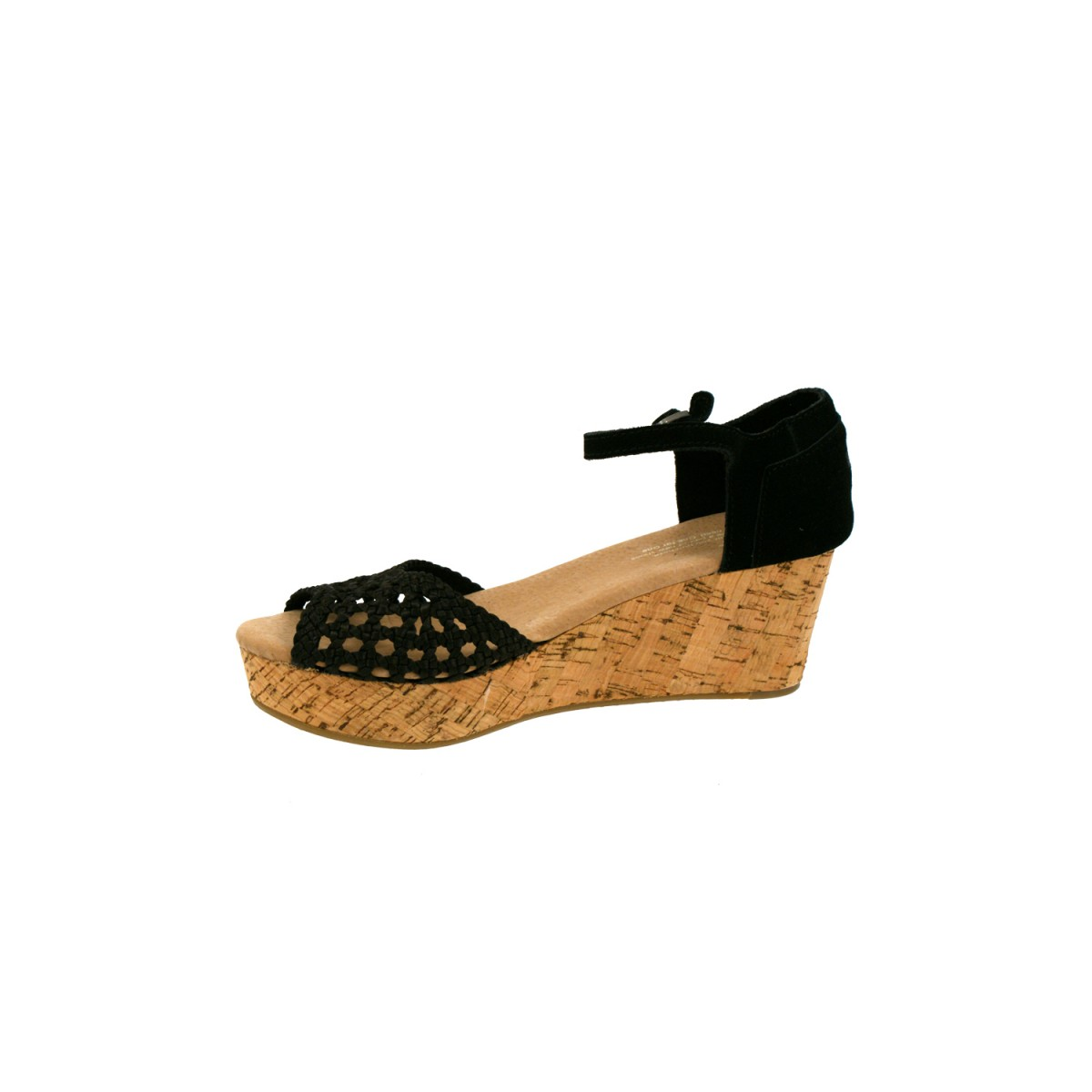 TOMS Wedge Satin Woven Black-31