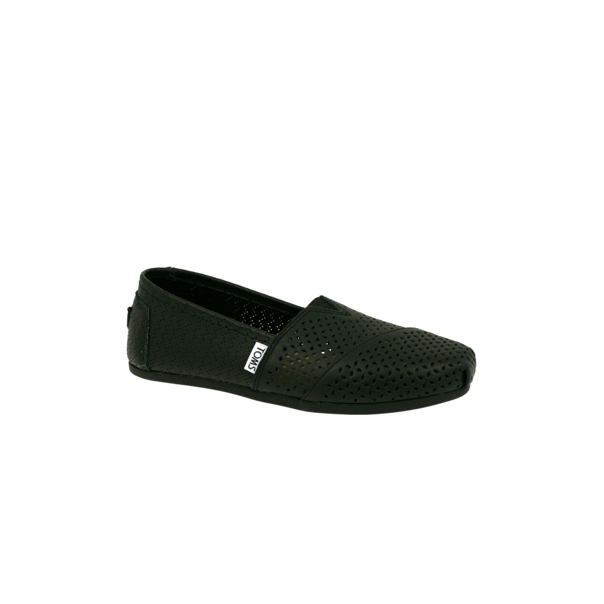 TOMS Classic Perforated Leather Black-31