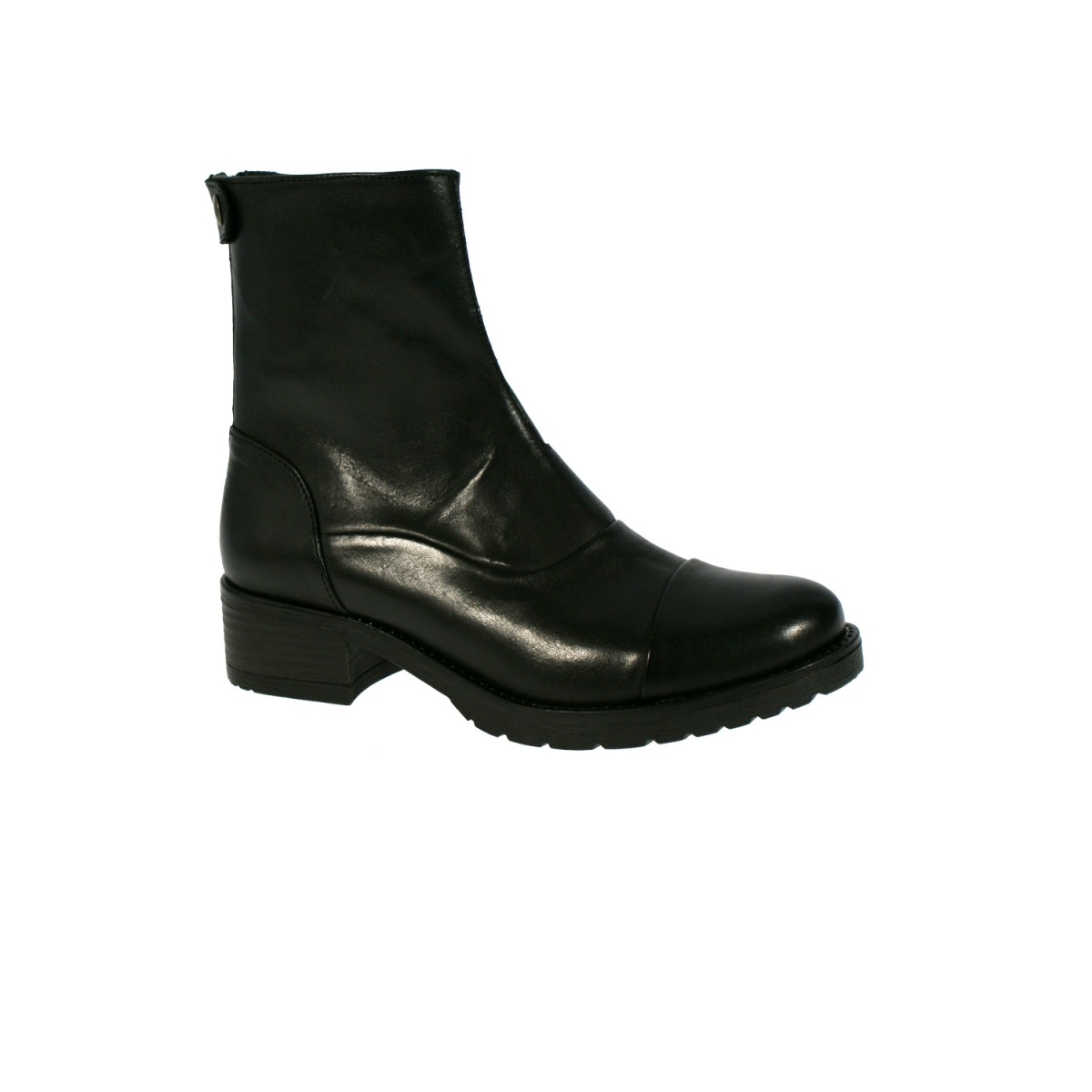 Mentor W7428 Back Zip Boot Black Leather-31