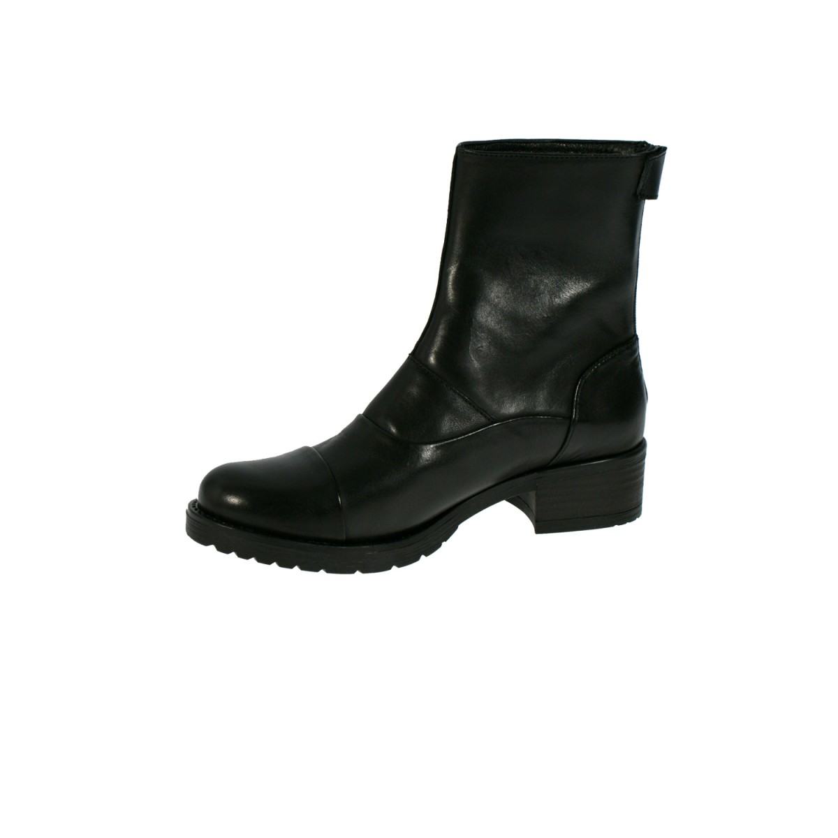Mentor W7428 Back Zip Boot Black Leather-35