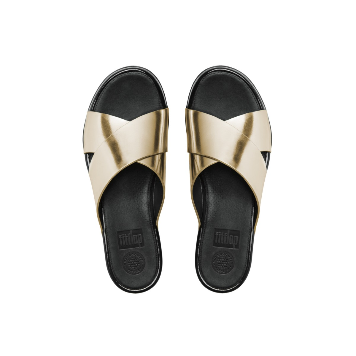 FitFlop Aix™ Slide Pale Gold-34
