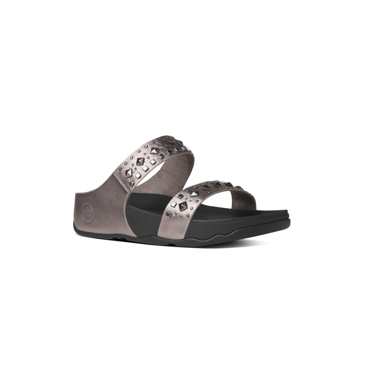 FitFlop Biker Chic™ Slide Pewter-32