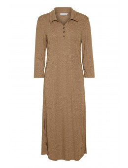 Lounge Nine Dreamie Polo Dress Camel Melange-20