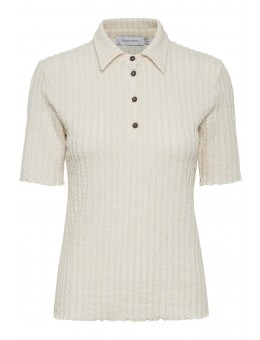 Lounge Nine 10606008 Kylie Polo T-shirt White Swan Melange-20