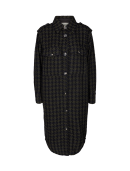Cph Muse 123746 Isabel Shirt Black Dark Olive mix as sms-20