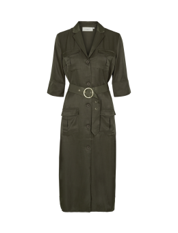 Cph Muse 123826 Sway Shirt Dress Dark Olive-20