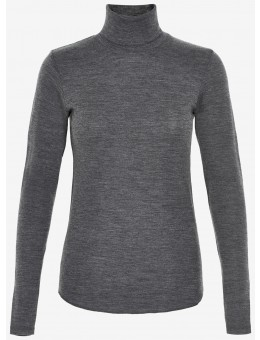Six Ames Wendy Roll Neck C3020 Dark Grey Melange-20