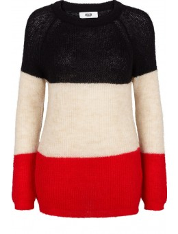 Moliin 22052 Ashley Knit Black/Off white/Red-20