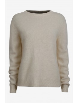 Six Ames Joie Sweater C1003 Racoon Off White-20