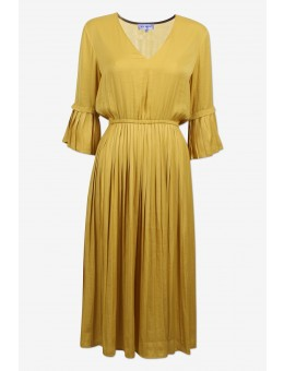 Six Ames Alida Dress C3162 Curry Yellow-20