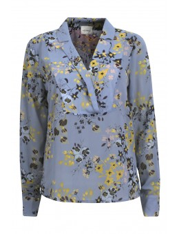 Six Ames Rosa Blouse C5124 Blue Flower Field-20