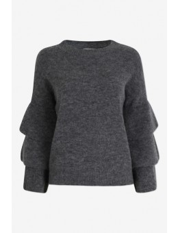 Six Ames Trista Sweater C3020 Dark Grey Melange-20