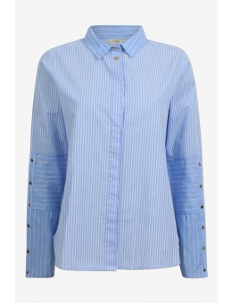 Six Ames Lia Shirt C5381 Oxford Striped Mix-20