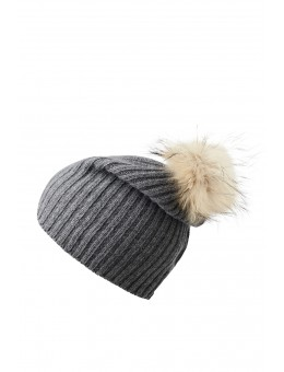 MP 96158 494 Debbie Beanie w fur Midd Grey-20