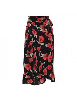 Maché Blair Wrap Skirt Black-20