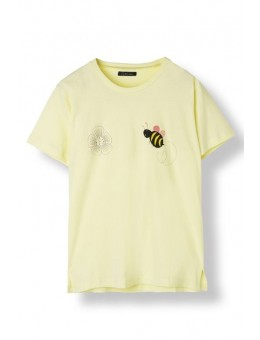 Stella Nova CJ-1467 Cotton Jersey 115 Sweet Yellow w. Bee Print-20