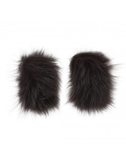 Cosy Concept Fur Clara Shoe Cuffs Mud-20