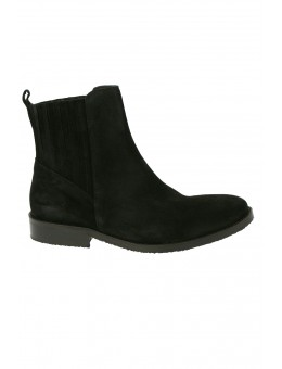 Mentor W7142 Ankle Chelsea Boot Black Waxed Suede-20