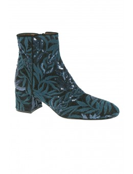 AGL 155506 Lowboot Applique Emerald-Nero-20