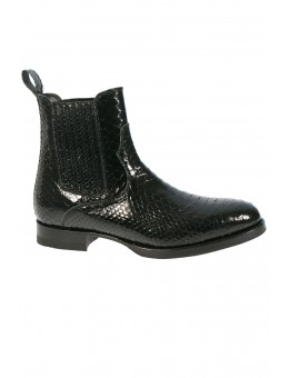 BY CJ Sarah Black Python Boot-20