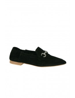 Pavement Jasmin Buckle Black Suede-20