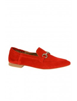 Pavement Jasmin Buckle Red Suede-20