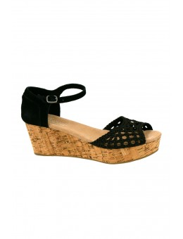TOMS Wedge Satin Woven Black-20