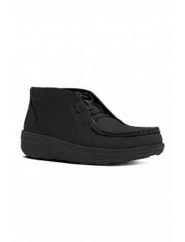 FitFlop LOAFF™ Lace-Up Nubuck Ankle Boots All Black-20