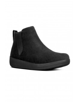 FitFlop SUPERCHELSEA™ Snake-Embossed Black Leather-20