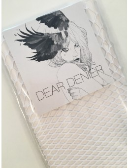 Dear Denier Pinar Fishnet sock White-20