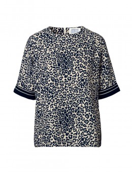 Libertine-Libertine Giant Top Dark Navy On White-20