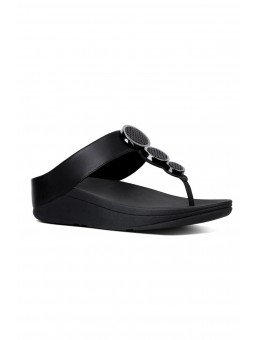 FitFlop Halo Toe Thong Sandals Black-20