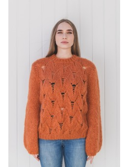 Einstakt Drós Sweater Orange Brown-20