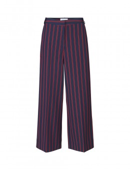 Libertine-Libertine Element Trousers Dark Navy w. Red Stripe-20