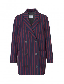 Libertine-Libertine Shift Blazer Dark Navy Red Stripe-20