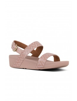 FitFlop Lottie Chevron Suede Back Strap Sandal Oyster Pink-20