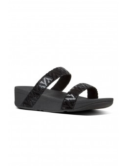 FitFlop Lottie Shevron Slide Black-20