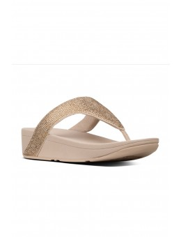 FitFlop Lottie Shimmercrystal Toe Post Artisan Gold-20