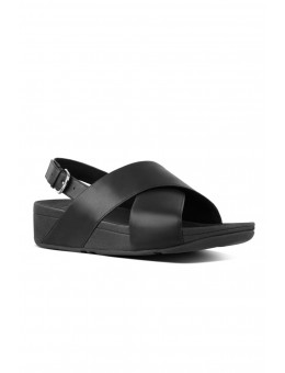 FitFlop Lulu Cross Back-strap Sandal Leather Black-20